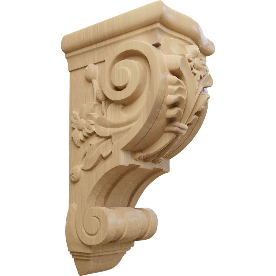 Ekena Millwork 6.25-in x 14.125-in Floral Cherry Corbel