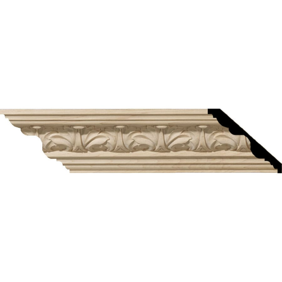 Ekena Millwork 1.125-in x 8-ft Maple Acanthus Crown Moulding