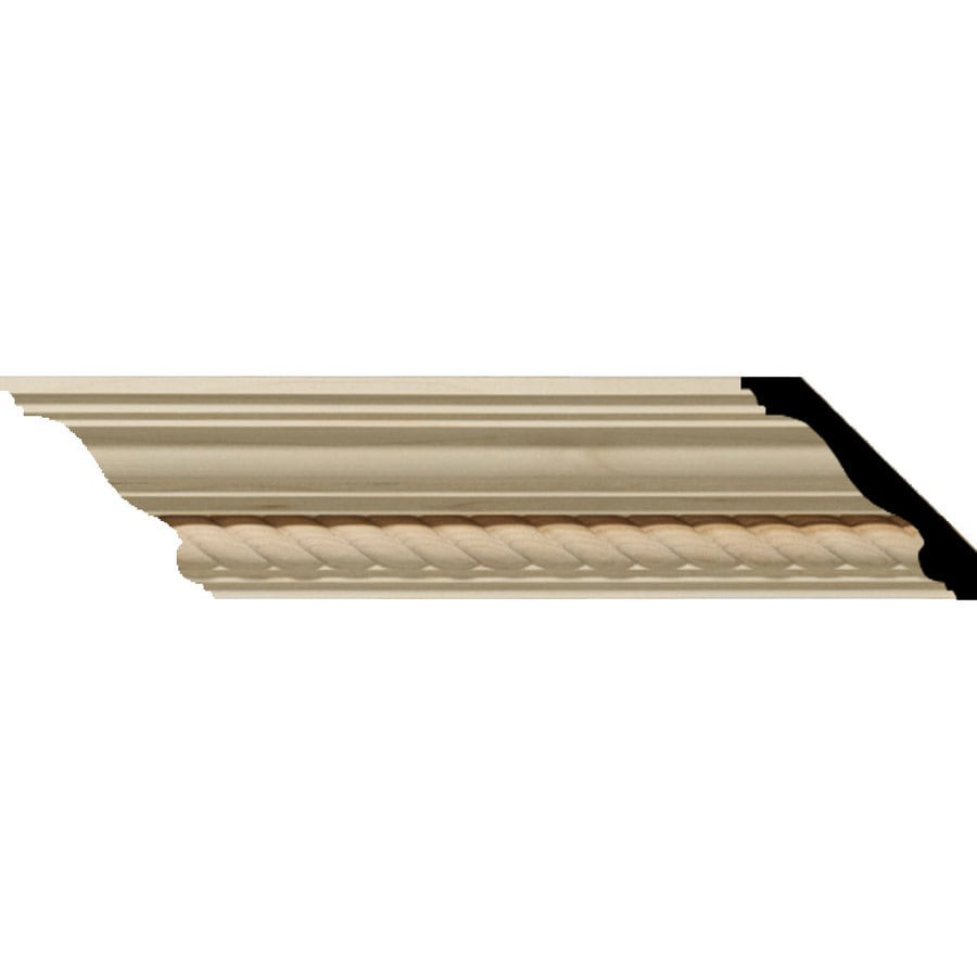 Ekena Millwork 2.28-in x 8-ft Alder Andrea Crown Moulding