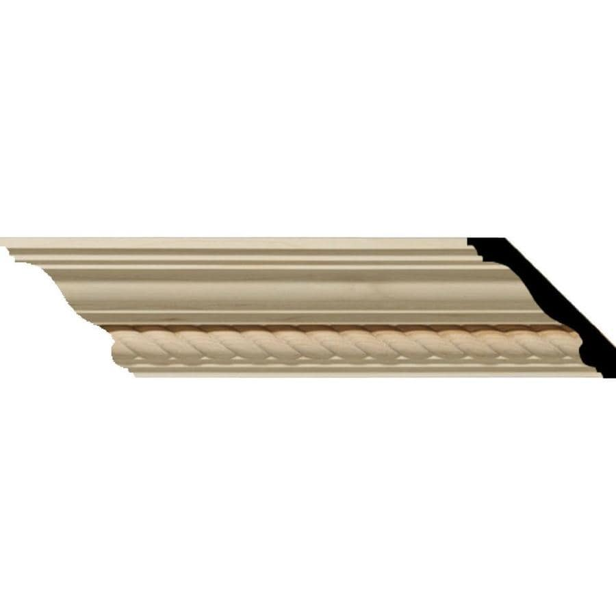 Ekena Millwork 2.28-in x 8-ft Maple Wood Andrea Crown Moulding