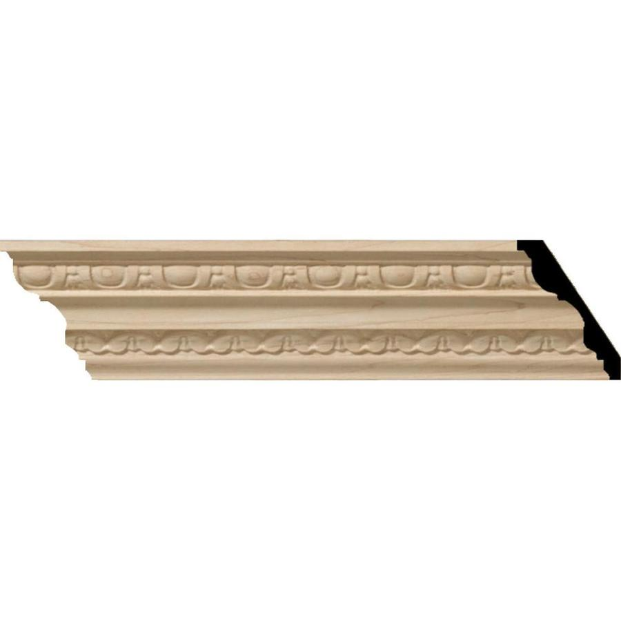Ekena Millwork 3-in x 8-ft Cherry Bedford Crown Moulding