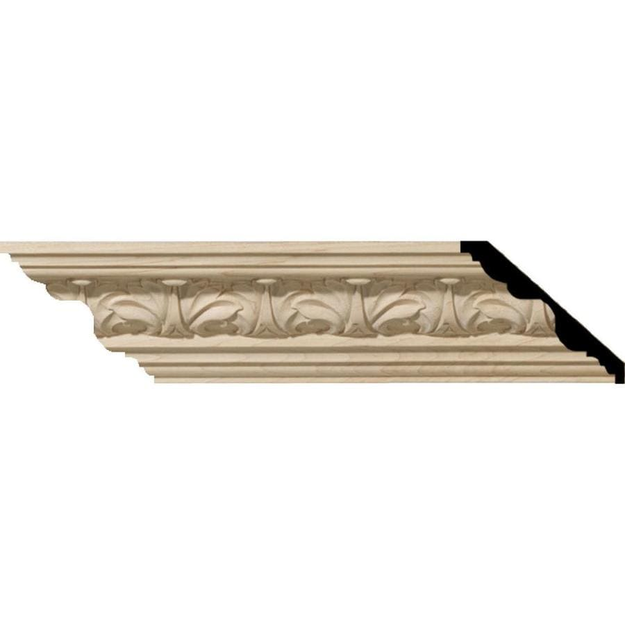 Ekena Millwork 3.25-in x 8-ft Cherry Acanthus Crown Moulding