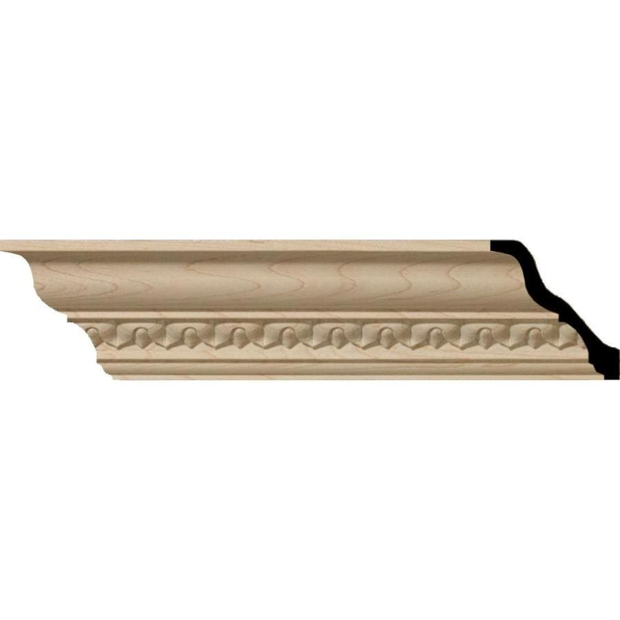 Ekena Millwork 3.6-in x 8-ft Maple Wood Lanakshire Crown Moulding