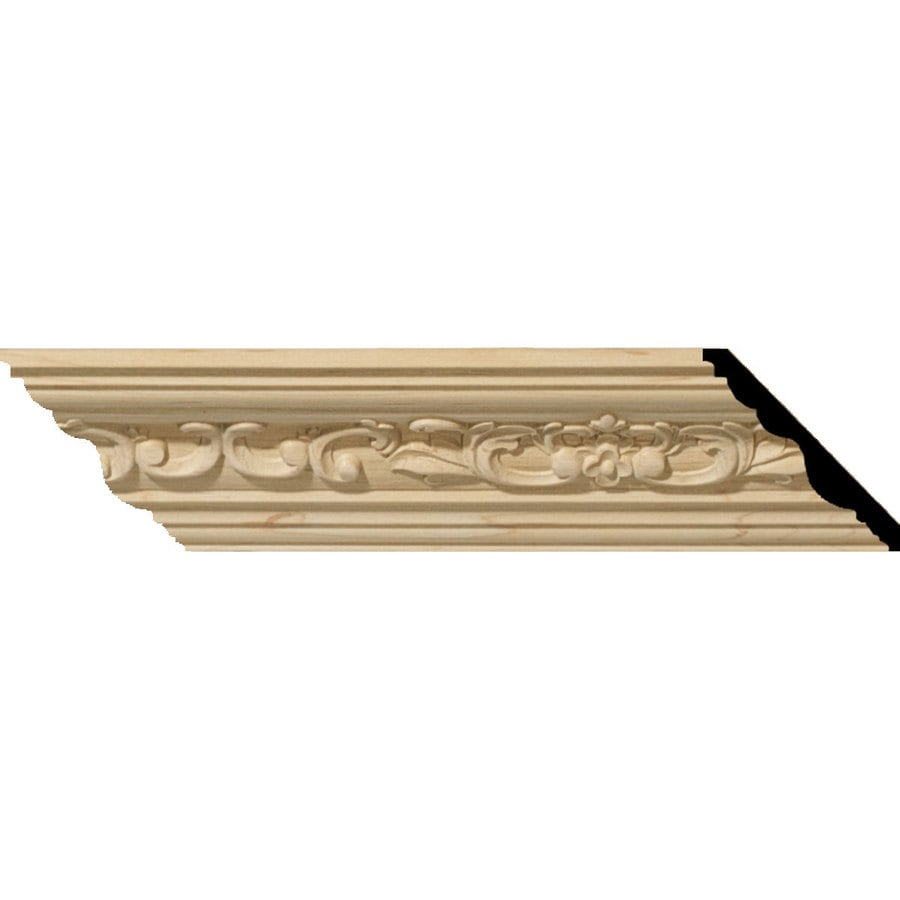 Ekena Millwork 3.48-in x 8-ft Cherry Crown Moulding