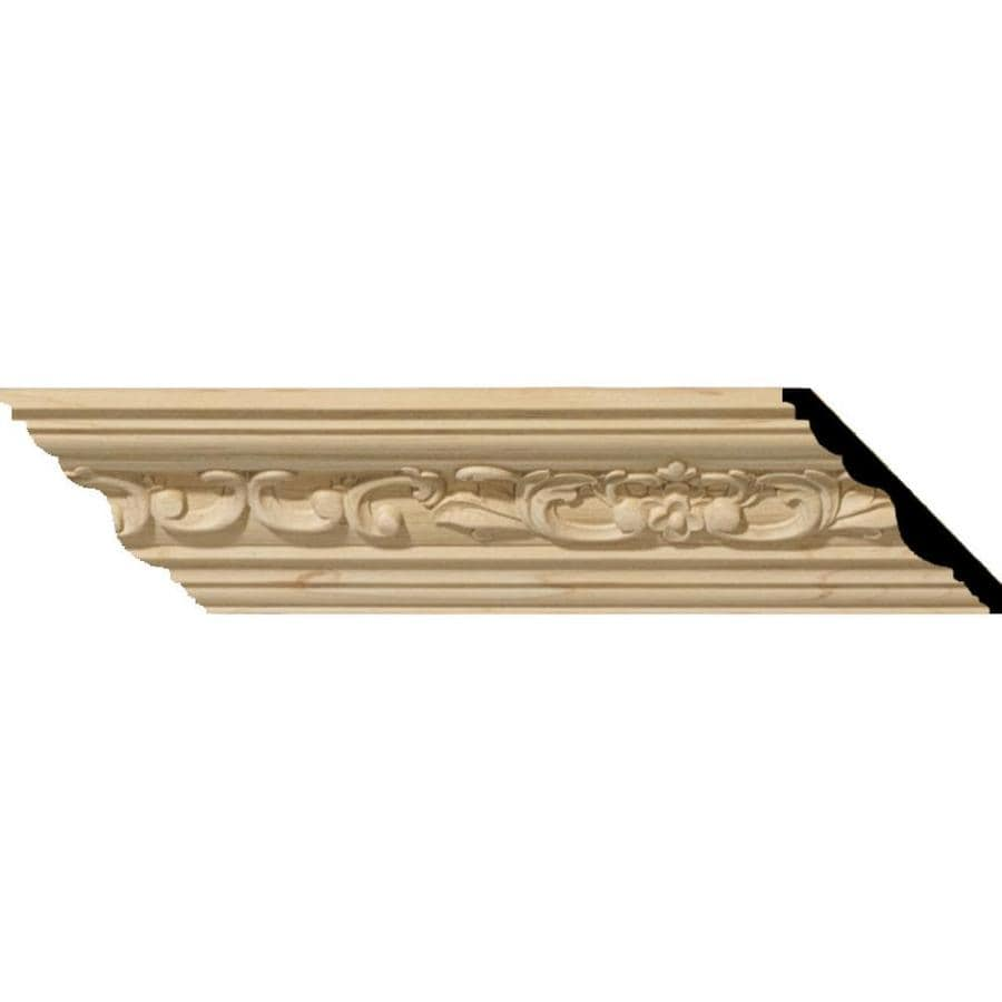 Ekena Millwork 3.48-in x 8-ft Maple Wood Medway Crown Moulding