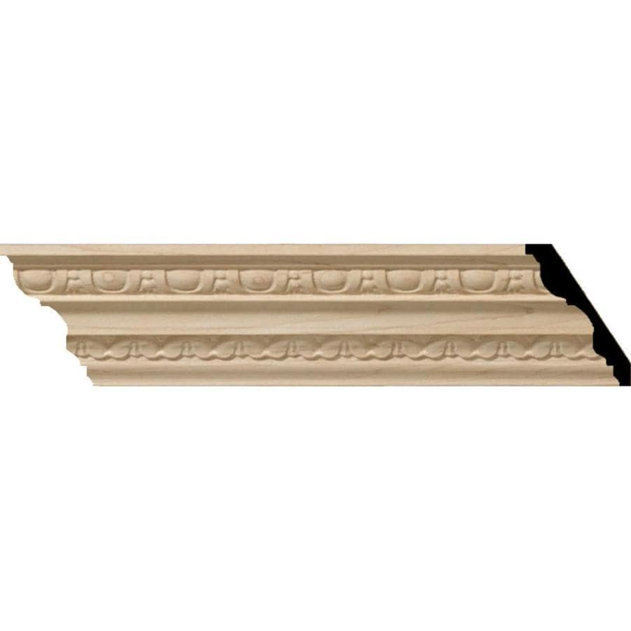 Ekena Millwork 3.96-in x 8-ft Maple Wood Bedford Crown Moulding