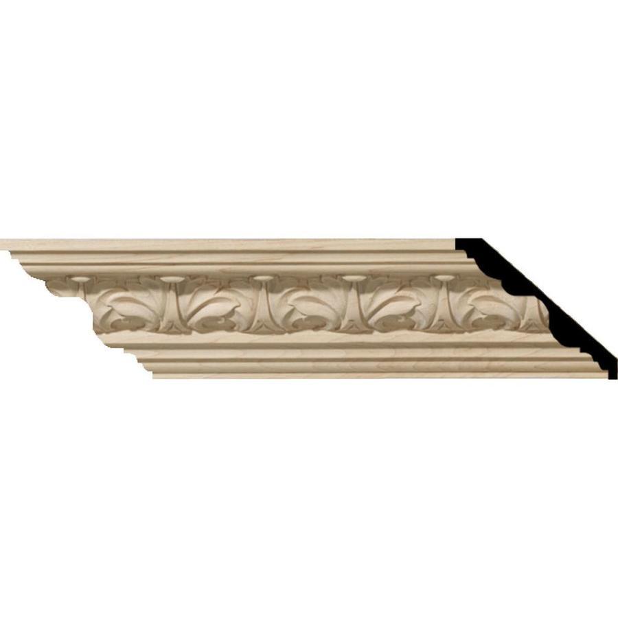 Ekena Millwork 4.56-in x 8-ft Alder Wood Acanthus Crown Moulding