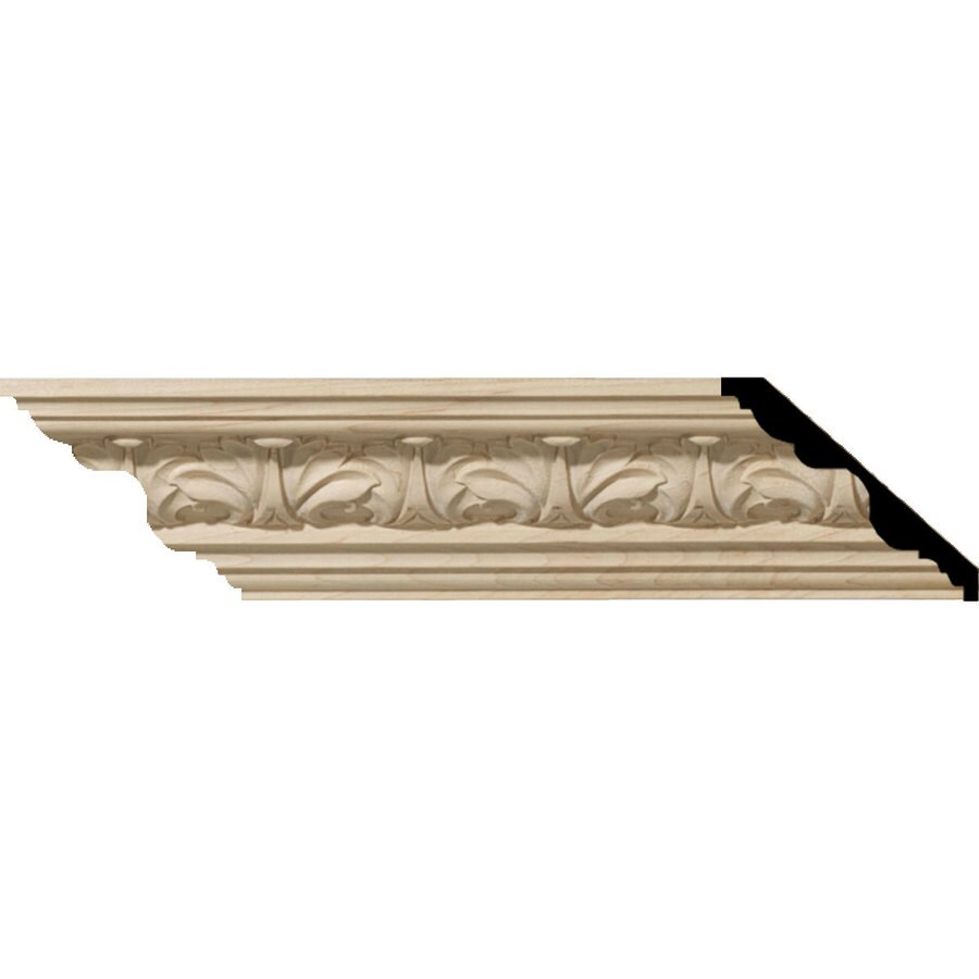 Ekena Millwork 4.56-in x 8-ft Cherry Acanthus Crown Moulding