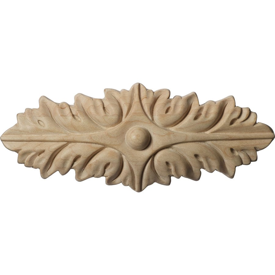 Ekena Millwork 6.375-in x 2.375-in Oxford Wood Applique