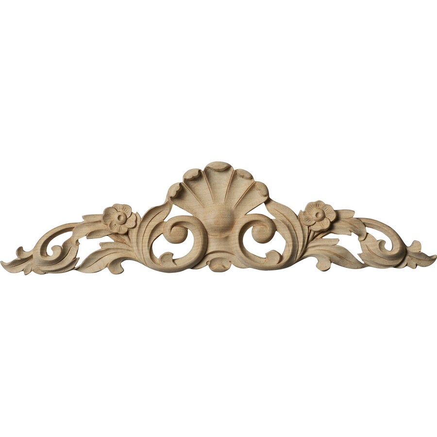 Ekena Millwork 12.25-in x 3.25-in Wood Applique