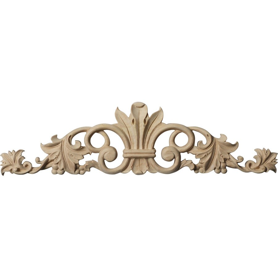Shop ekena millwork 12 in x 3 5 in marseille wood applique for Decorative wood onlays