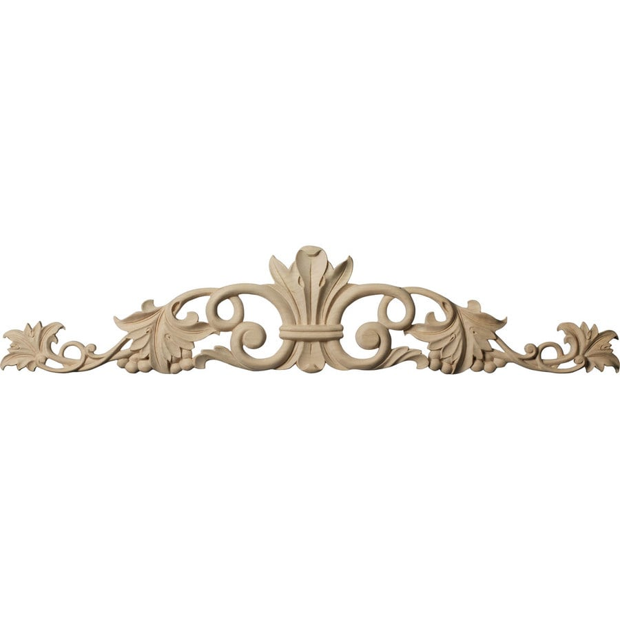 Ekena Millwork 24.5-in x 5.125-in Marseille Lindenwood Applique