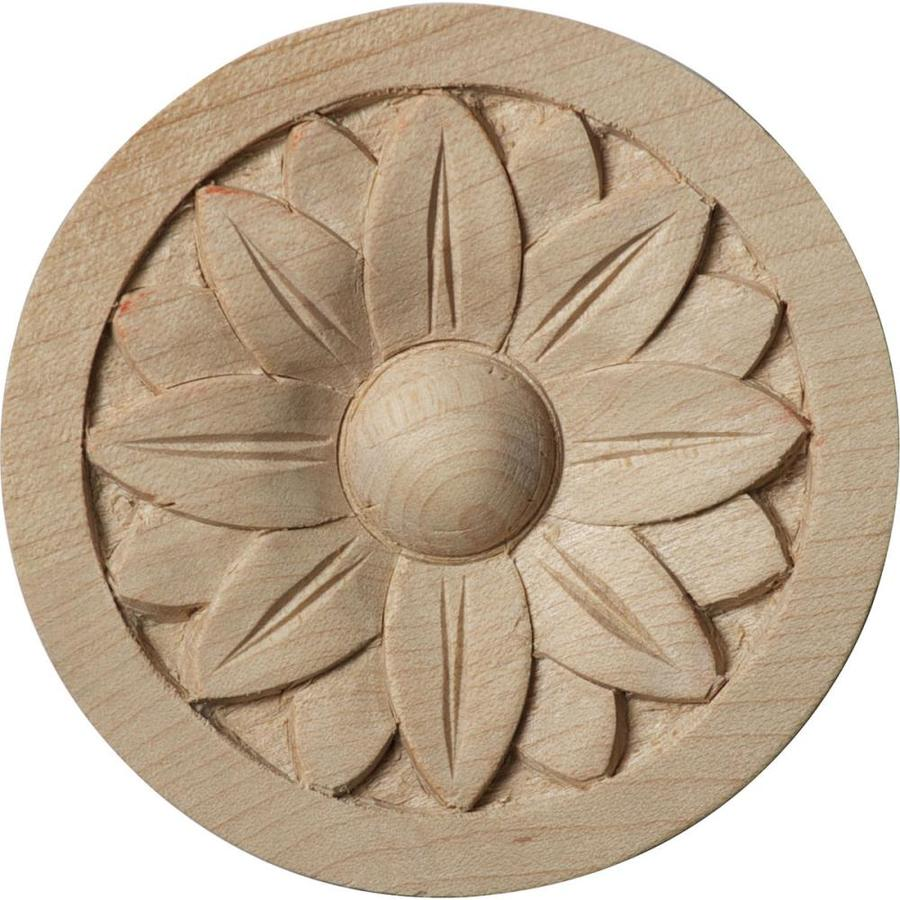 Ekena Millwork Bedford Round Wood Rosette