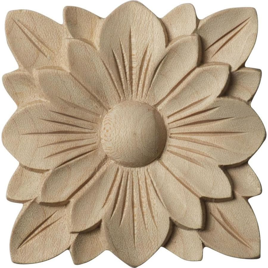 Ekena Millwork Springtime Square Wood Rosette