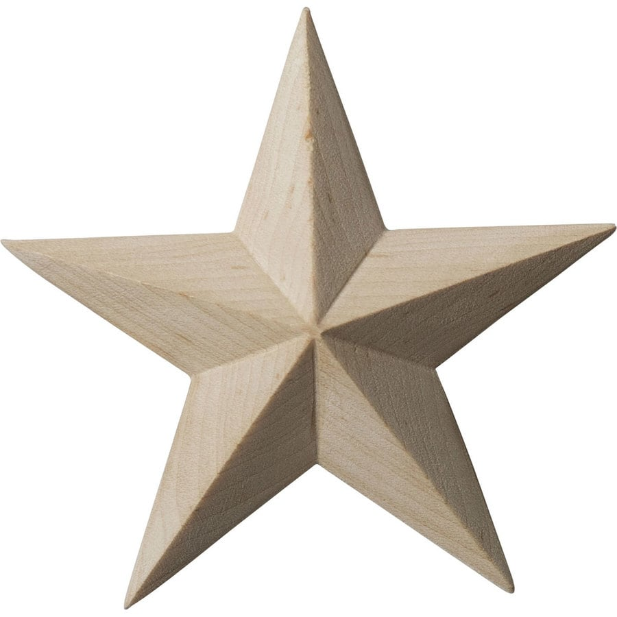 Ekena Millwork 3.5-in x 3.5-in Galveston Star Wood Applique