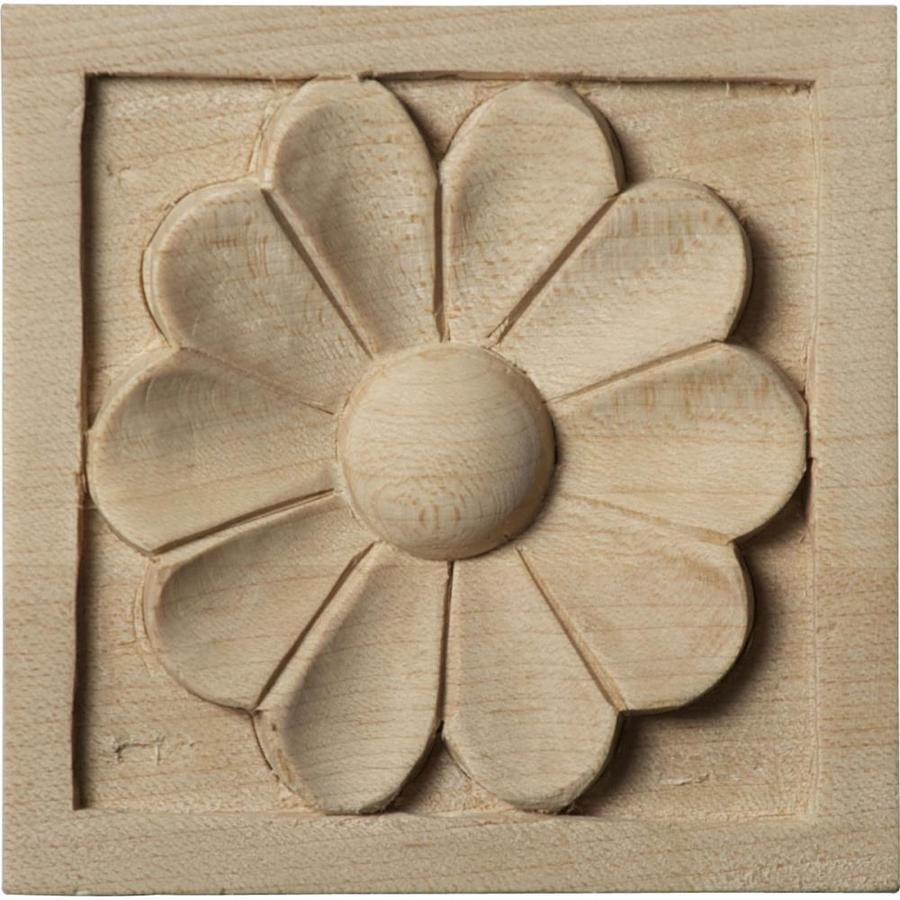 Ekena Millwork Small Medway Square Wood Rosette