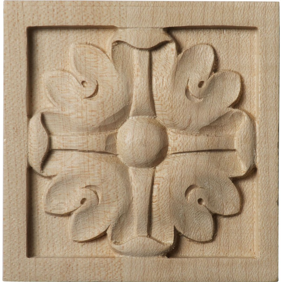 Ekena Millwork Small Edinburgh Square Wood Rosette