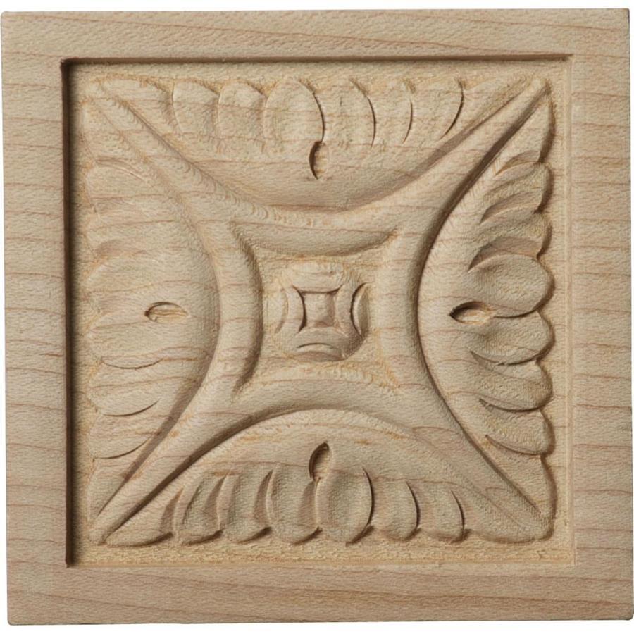 Ekena Millwork Small Middlesborough Square Wood Rosette