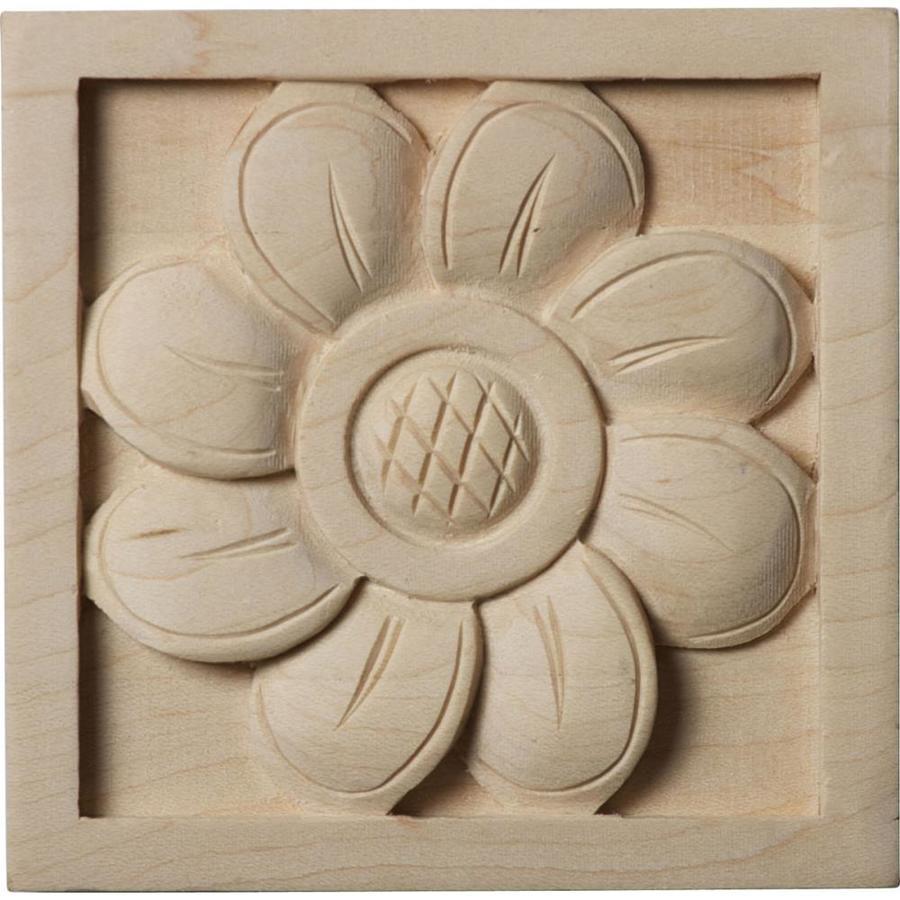 Ekena Millwork Small Sunflower Square Wood Rosette