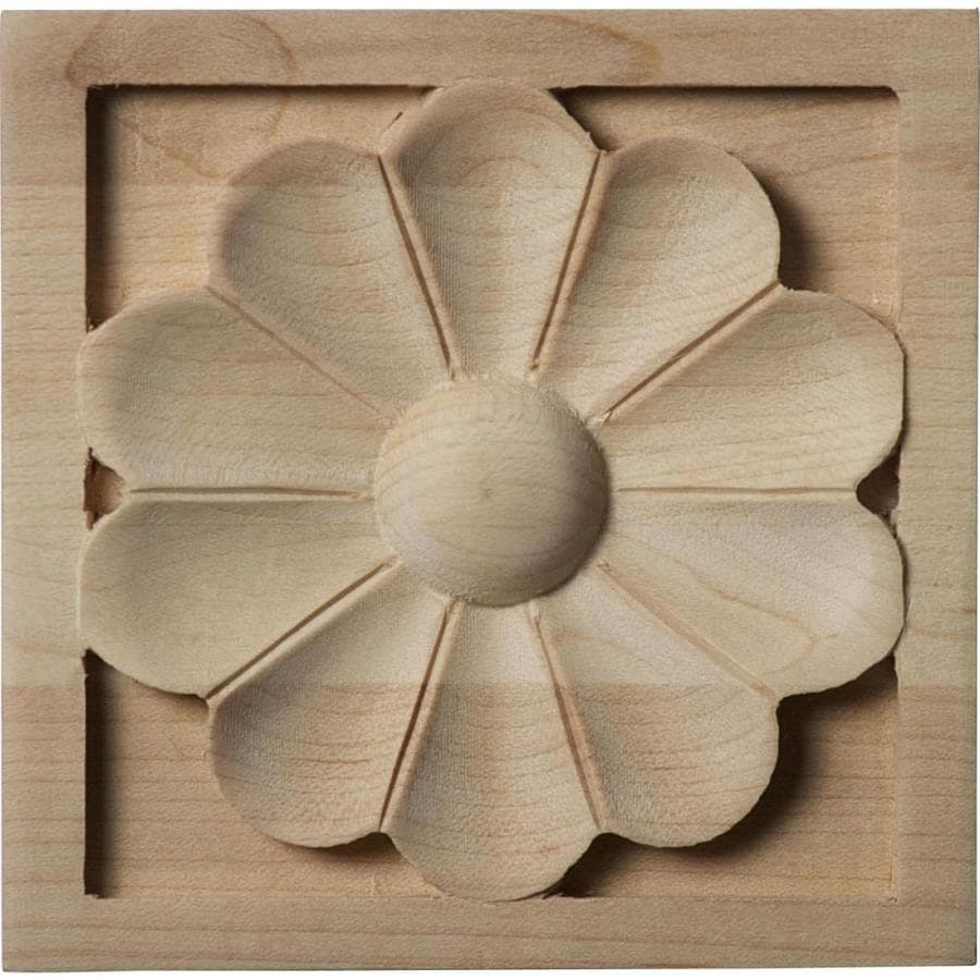 Ekena Millwork Medium Medway Square Wood Rosette