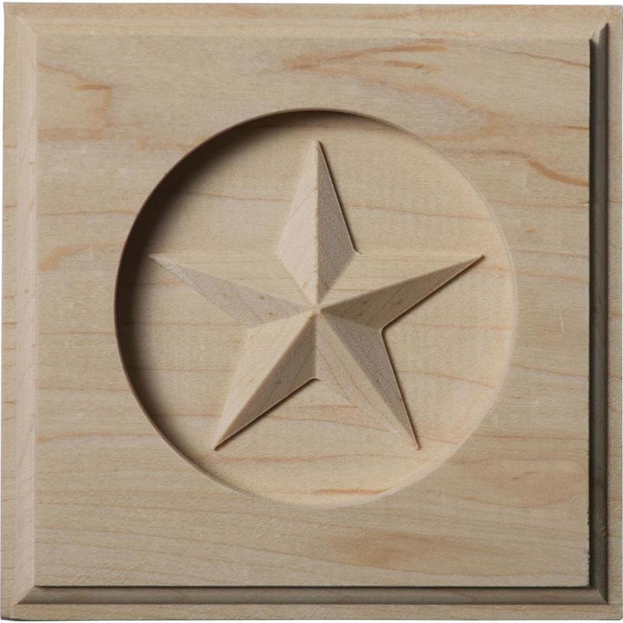 Ekena Millwork Austin Star 4.25-in x 4.25-in Square Maple Rosette