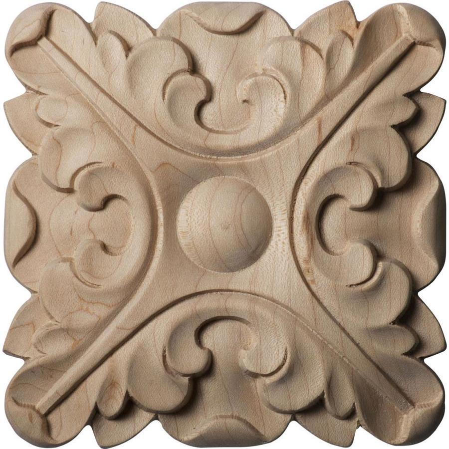 Ekena Millwork Acanthus 5-in x 5-in Round Rubberwood Rosette
