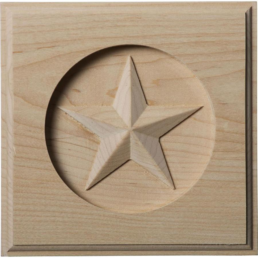 Ekena Millwork Austin Star 5-in x 5-in Square Cherry Rosette