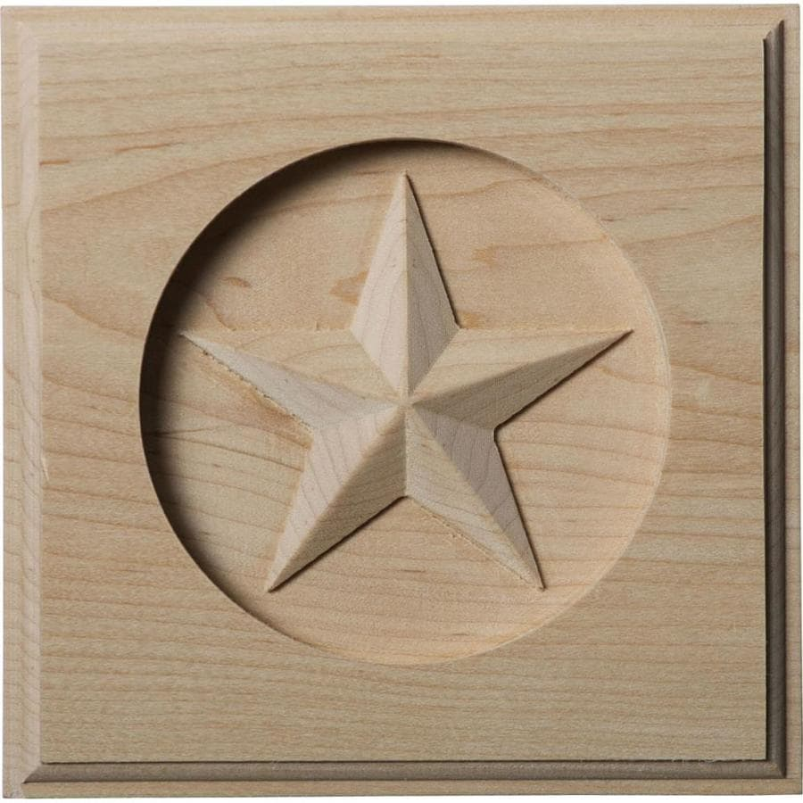 Ekena Millwork Austin Star 5-in x 5-in Square Maple Rosette