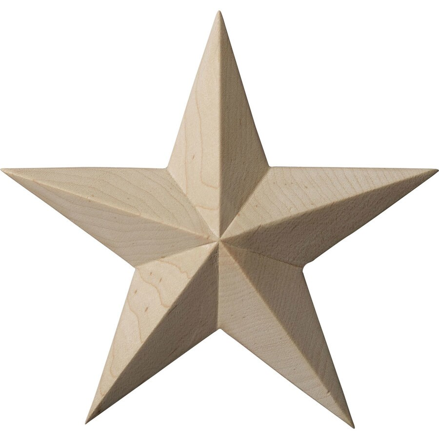 Ekena Millwork 5-in x 5-in Galveston Star Wood Applique