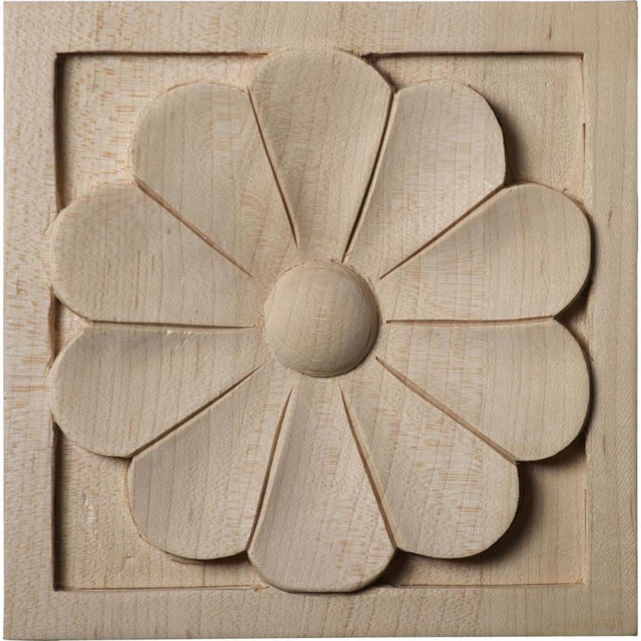 Ekena Millwork Large Medway Square Wood Rosette