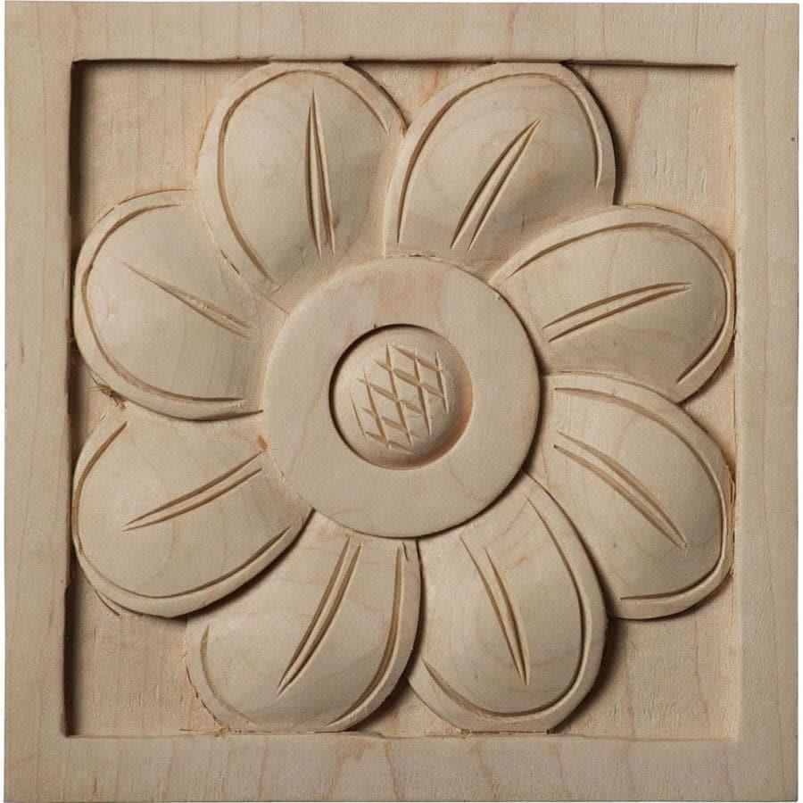 Ekena Millwork Large Sunflower Square Wood Rosette