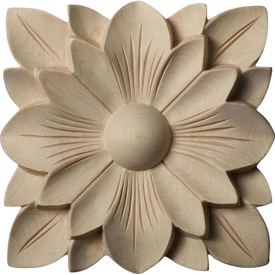 Ekena Millwork Springtime 5-in x 5-in Square Maple Rosette