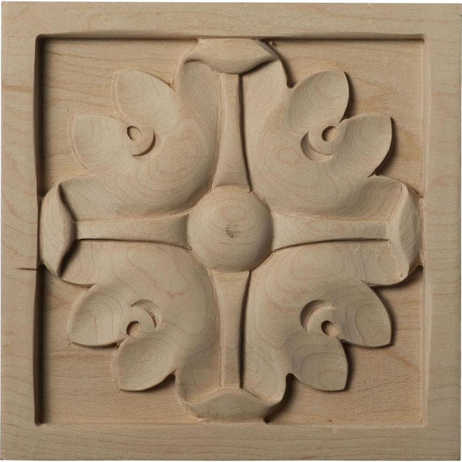 Ekena Millwork Large Edinburgh Square Wood Rosette