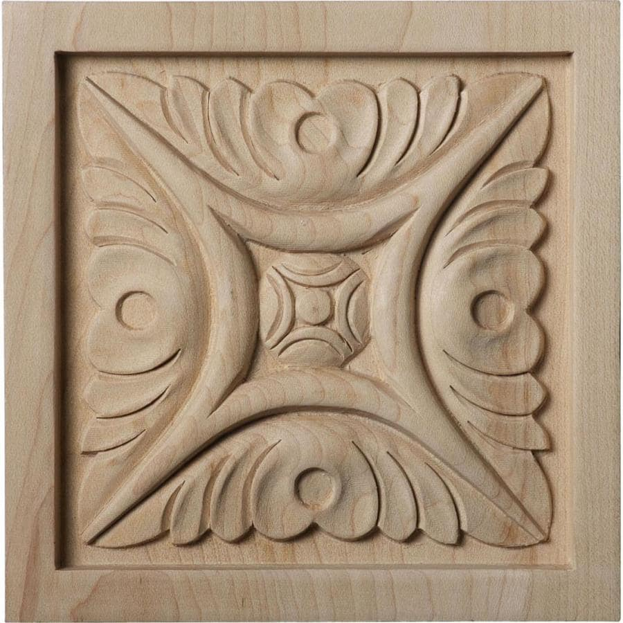 Ekena Millwork Large Middlesbrough Square Wood Rosette