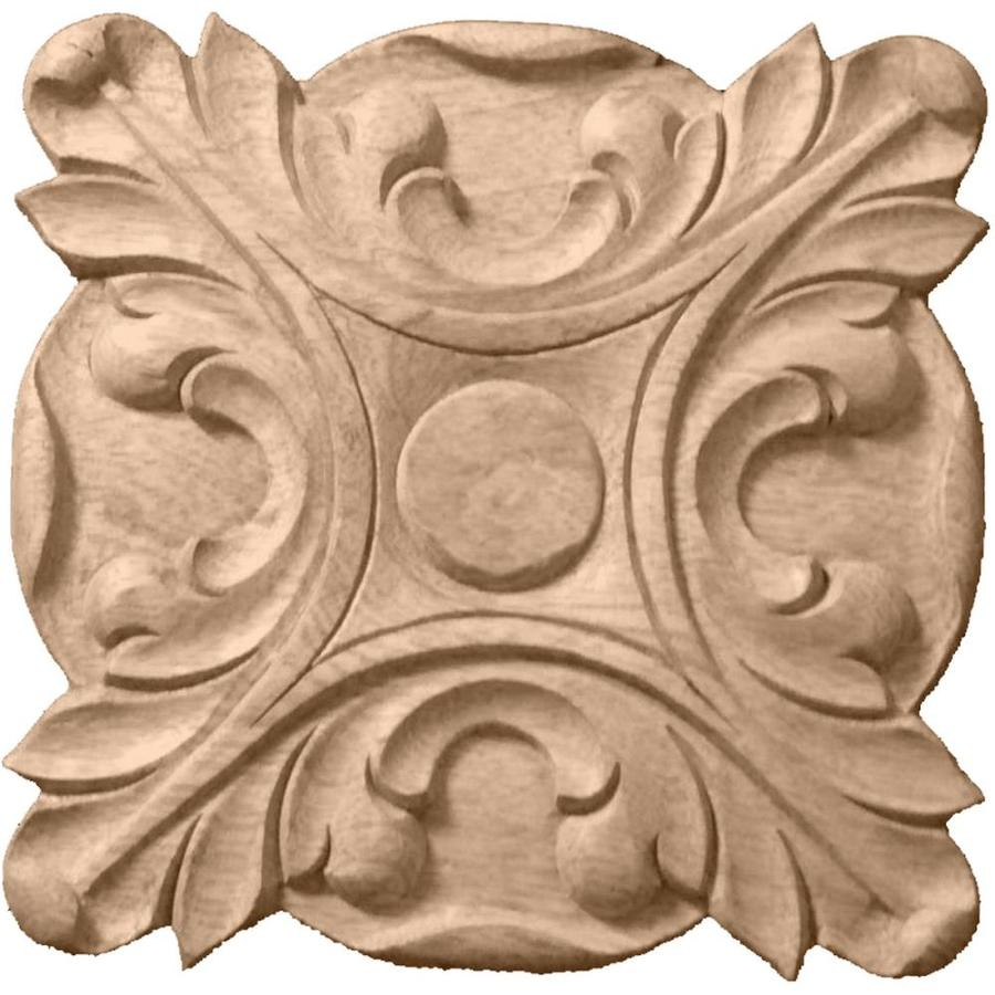 Ekena Millwork Acanthus 6.5-in x 6.5-in Round Rubberwood Rosette