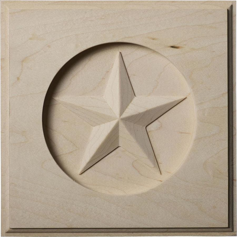 Ekena Millwork Austin Star 6-in x 6-in Square Rubberwood Rosette