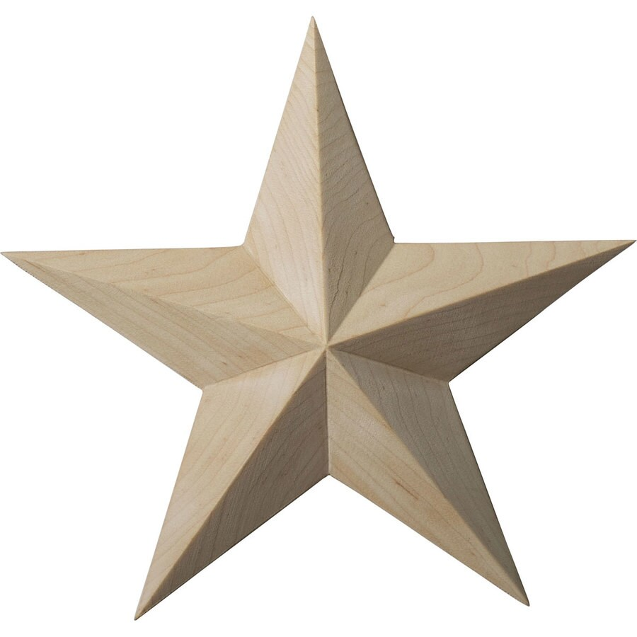 Ekena Millwork 6.5-in x 6.5-in Galveston Star Wood Applique