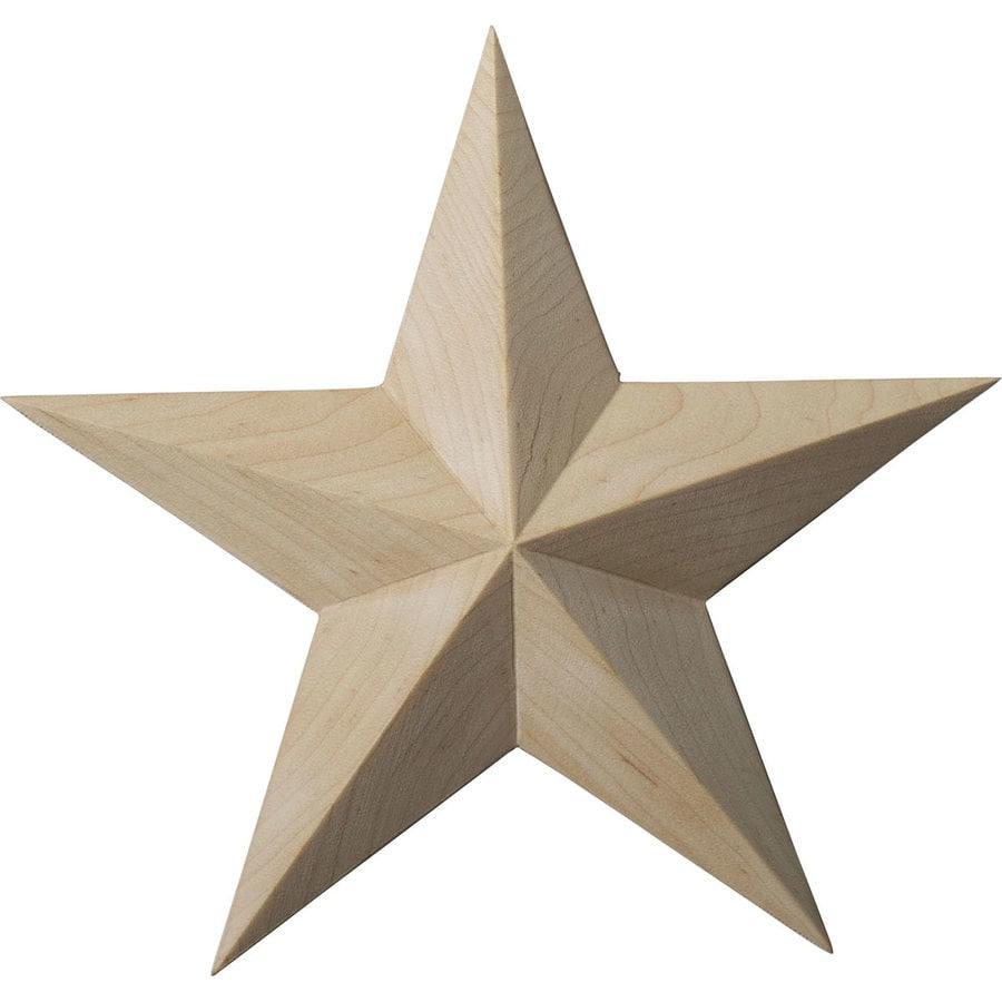 Ekena Millwork 6.5-in x 6.5-in Galveston Star Cherry Applique