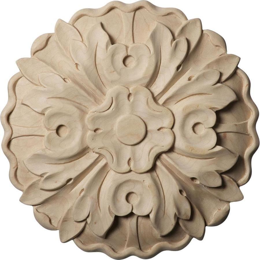 Ekena Millwork Medium Kent Floral Round Wood Rosette