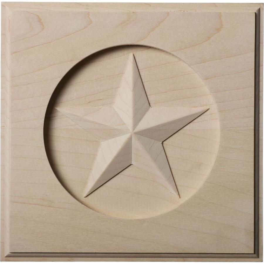 Ekena Millwork Austin Star 7-in x 7-in Square Maple Rosette
