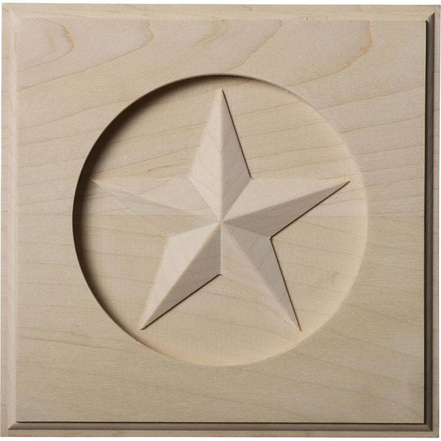 Ekena Millwork Austin Star 7-in x 7-in Square Rubberwood Rosette