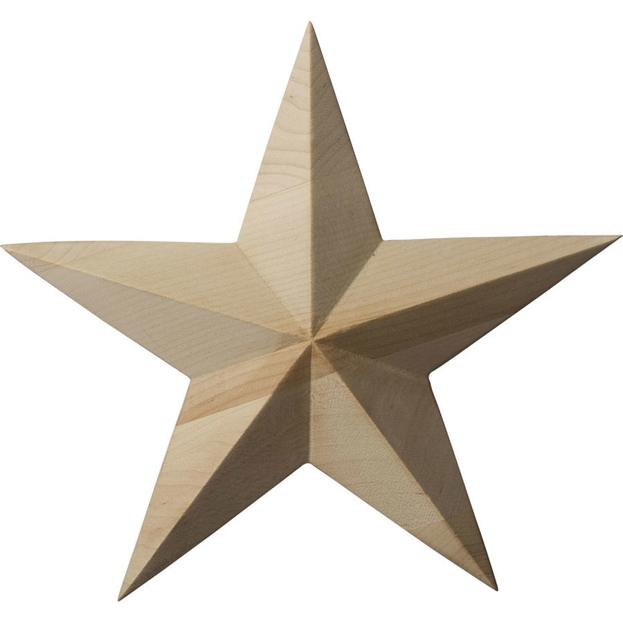 Ekena Millwork 7-in x 7-in Galveston Star Cherry Applique