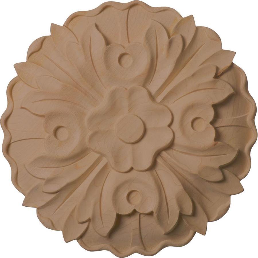 Ekena Millwork Large Kent Floral Round Wood Rosette