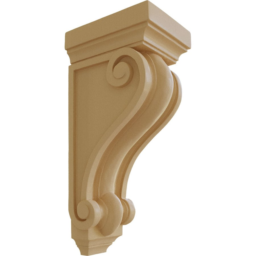 Ekena Millwork 6-in x 16-in Maple Devon Traditional Wood Corbel
