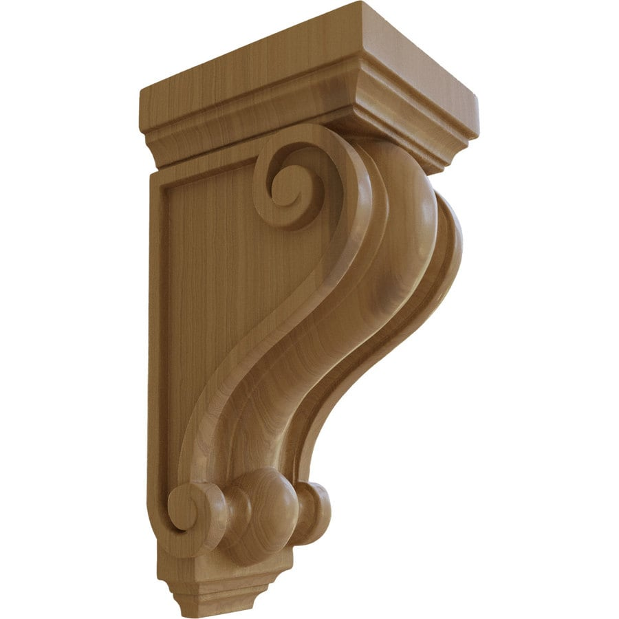 Ekena Millwork 6-in x 13.25-in Cherry Wood Corbel