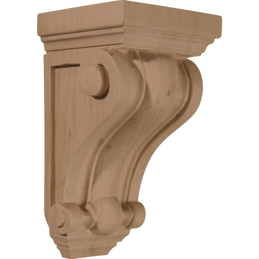 Ekena Millwork 4-in x 7.5-in Rubberwood Devon Traditional Wood Corbel