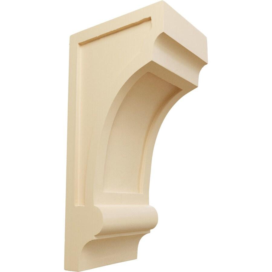 Ekena Millwork 5.5-in x 14-in Maple Diane Recessed Wood Corbel