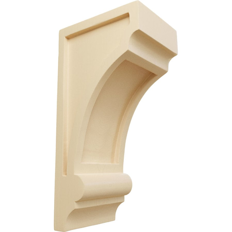 Ekena Millwork 4-in x 10-in Diane Recessed Maple Corbel