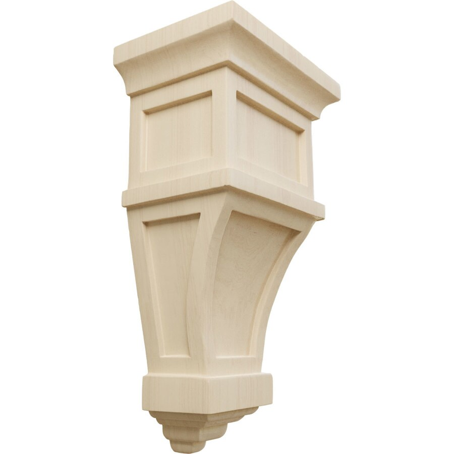 Ekena Millwork 6-in x 11-in Alpine Rubberwood Corbel