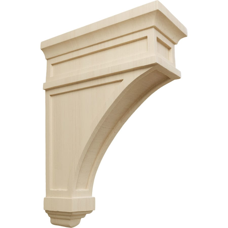 Ekena Millwork 4.5-in x 13.75-in Rubberwood Arlington Wood Corbel